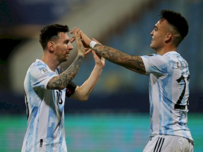 Lautaro Martinez Dibidik Arsenal, Messi: Dia Memang Striker Paket Lengkap