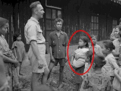 Viral Foto Warga Terdampar Semasa Perang Kemerdekaan 1947, Bocah Gendong Bayi Bikin Salfok