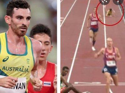 Olimpiade Tokyo: Gegara Cuaca Panas, Pelari Australia Ini Tumbang di Lintasan