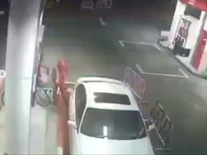 Tak Tahu Malu, Mobil BMW di Bintaro Tancap Gas Setelah Isi BBM, Kabur Sebelum Bayar