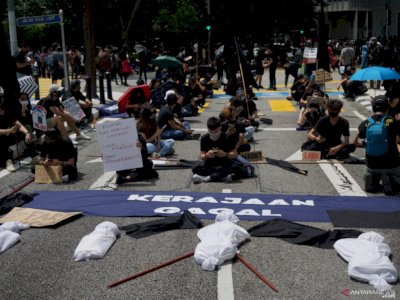 Gelar Unjuk Rasa, Warga Malaysia Tuntut PM Muhyiddin Mundur