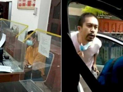 Garang saat Ludahi Petugas PLN, Pria di Medan Ciut dan Tertunduk saat Diperiksa Polisi