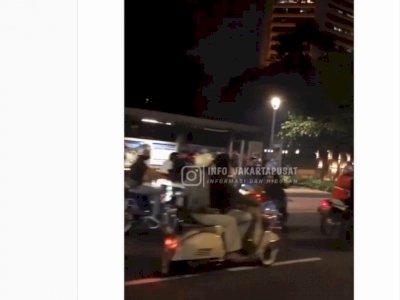 Viral Konvoi Pemotor di Sudirman Jakpus Berujung Dibubarkan Polisi