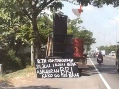 Menyedihkan, Pria Ini Jual Sound System di Pinggir Jalan, Tak Ada Penyewa Sejak Pandemi