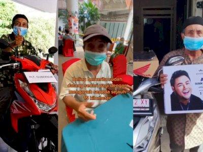 Kakek Viral yang Bersepeda 15 Km Demi Divaksin dapat Hadiah 2 Motor dan Uang Tunai