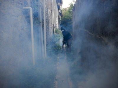 FOTO: Fogging Pencegahan Penyebaran DBD di Kabupaten Bandung