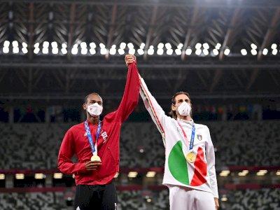Haru! Kisah Atlet Qatar & Italia, Berbagi Emas di Olimpiade  Tokyo 2020