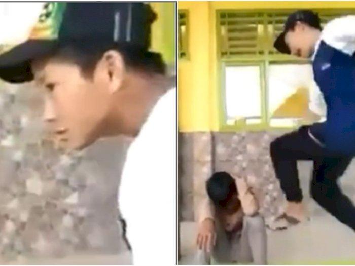 Tampang Remaja Sok Jago yang Pukuli dan Tendangi Kepala Temannya Tanpa Ampun, Bikin Geram