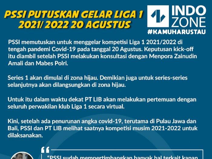 PSSI Putuskan Gelar Liga 1 2021/2022 20 Agustus