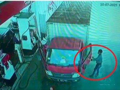 Viral Pencuri Rp20 Juta di Mobil Boks Saat Isi BBM, Pelaku Sudah Ditangkap Polisi