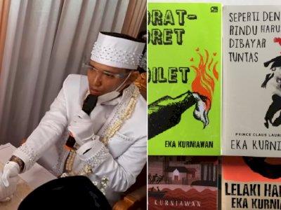 Unik, Pria Ini Beri Mas Kawin Seperangkat Novel Sastra Karya Eka Kurniawan
