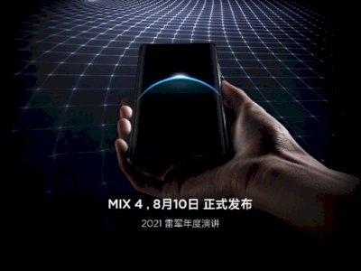 Diumumkan 10 Agustus Nanti, Xiaomi Mi MIX 4 Bakal Hadirkan Kamera di Bawah Layar