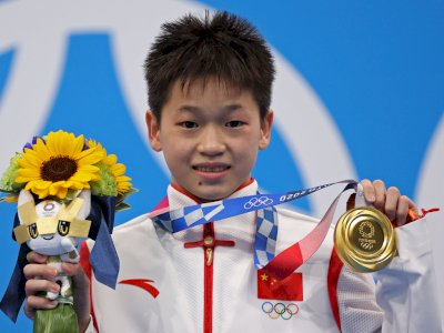 Keren! Masih 14 Tahun, Atlet China Termuda Ini Sumbangkan Medali Emas