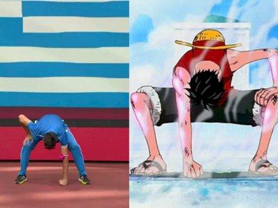 Atlet Yunani Tirukan Gaya 'Gear Second' Luffy One Piece, Sukses Dapat Emas