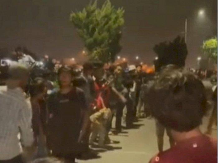 Balap Liar Sepeda, Ratusan Bocah Buat Kerumanan di Kanal Jalan STM Medan