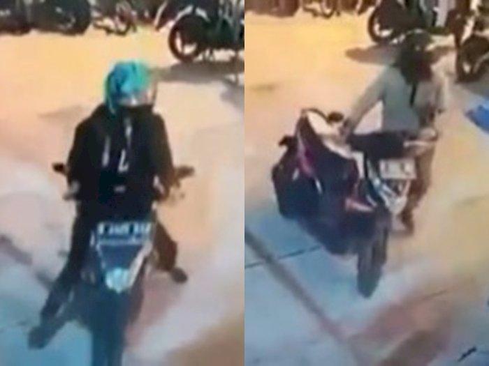 Parah! Maling Terekam CCTV Curi Dua Motor di Kosan Bandung, Ancam Pemilik Kos Pakai Senpi