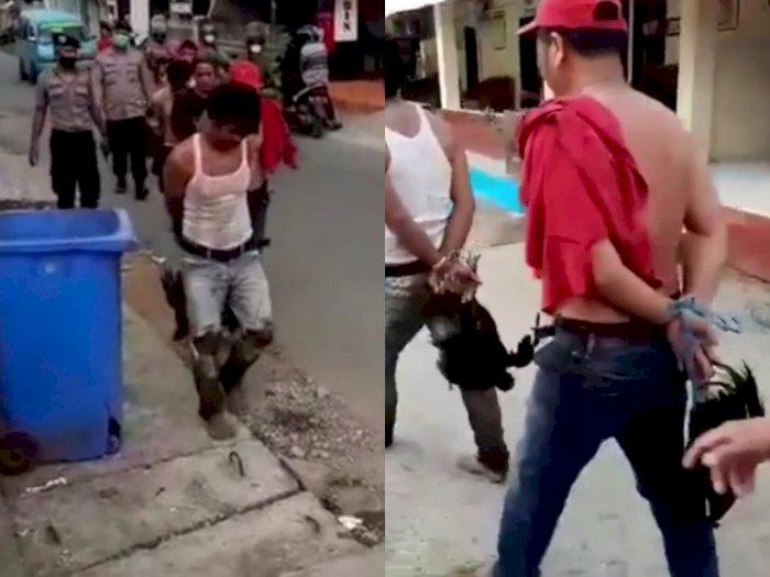 Viral Video Pelaku Judi Sabung Ayam di Manggala Kocar-kacir saat Digrebek