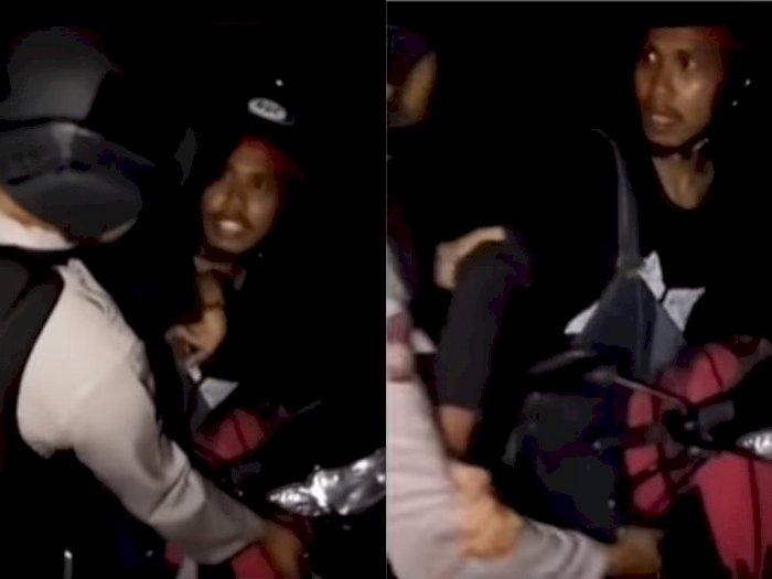 Aksi Kocak Pria Ini saat Hendak Ditilang Petugas Polisi: Kamu yang Kuasai Bumi Kah?