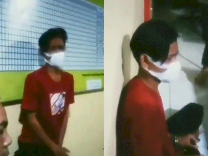Ciut! Pemuda Ini Nangis Terisak di Kantor Polisi Usai Terjaring Razia Balap Liar di Kalbar