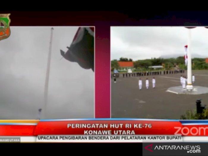 Bendera Jatuh saat Upacara HUT RI, Bupati Konawe Utara Minta Maaf