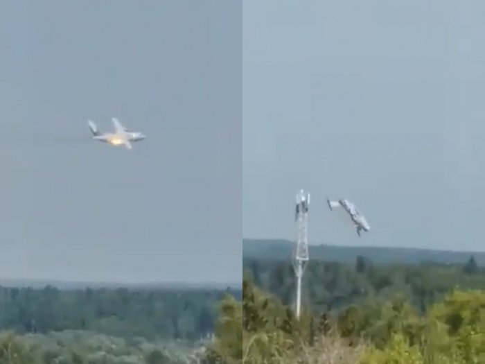 Detik-detik Mengerikan Pesawat Terbaru Militer Rusia Jatuh saat Uji Coba, Semua Awak Tewas
