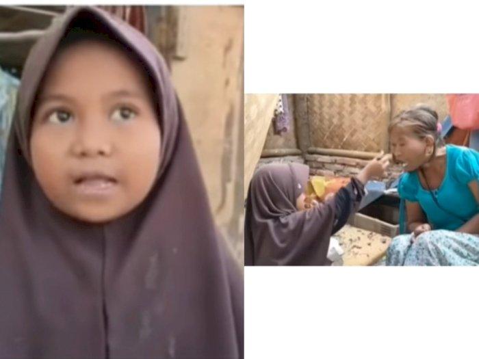 Memilukan! Seorang Bocah Wanita Merawat Ibu Kandung Penderita ODGJ Hingga Jual Botol Bekas
