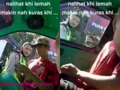 Arogan! Polisi Ini Bentak dan Lempar KTP ke Sopir di Depan Anak-anak, Tuai Kecaman Netizen
