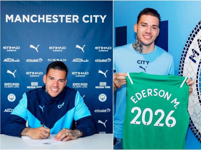 Ederson Teken Perpanjangan Kontrak di Manchester City
