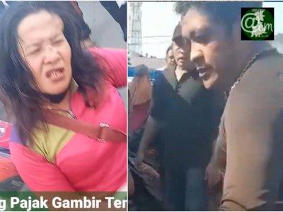 Kejam, 2 Preman di Medan Pukuli Wanita Pedagang di Pasar, Sampai Minta Ampun Ditendangi