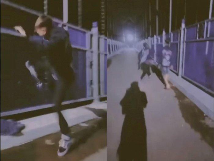 Sok Keras! 3 Pemuda Rusak Pagar Jembatan Penyeberangan di Kalteng, Berakhir Diciduk Polisi