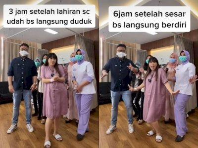 Dua Hari Pascaoperasi Melahirkan Anak Kedua, Cherly Juno Sudah Lincah Berjoget TikTok