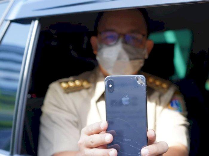 HP Retak Anies Baswedan saat Coba Masuk Ancol dengan Aplikasi PeduliLindungi Jadi Sorotan