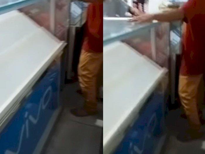 Tragis, Toko Ponsel Dibobol Maling Pakai Linggis, Semua HP di Etalase Raib Tak Bersisa