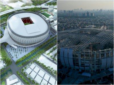 FOTO: Melihat Progres Pembangunan Jakarta International Stadium yang Capai 70 Persen