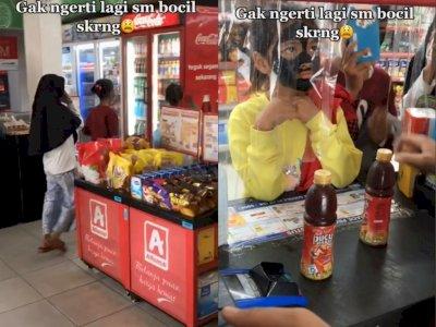 Kelakuan Tiga Bocah saat Beli Minuman di Minimarket, Netizen Ngakak Lihat Masker Mereka