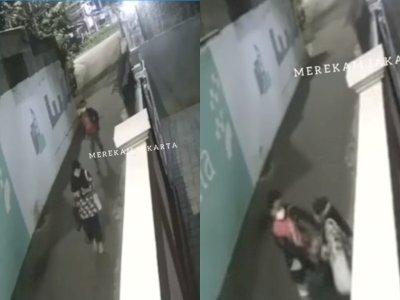 Detik-detik Begal Rampas HP dan Bacok Wanita di Cipulir Jaksel, Aksinya Terekam CCTV