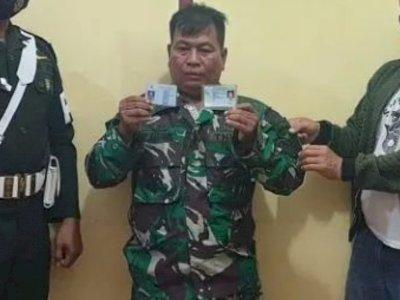 Tampang TNI Gadungan Bernama Roni Marpaung, Marah Ditanya Bertugas di Mana