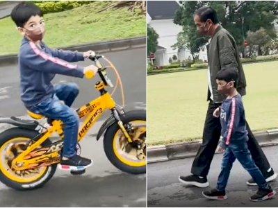 Jan Ethes Tumbuh Lincah dan Bisa Naik Sepeda, Jokowi: Baru Kemarin Dia Saya Timang-Timang