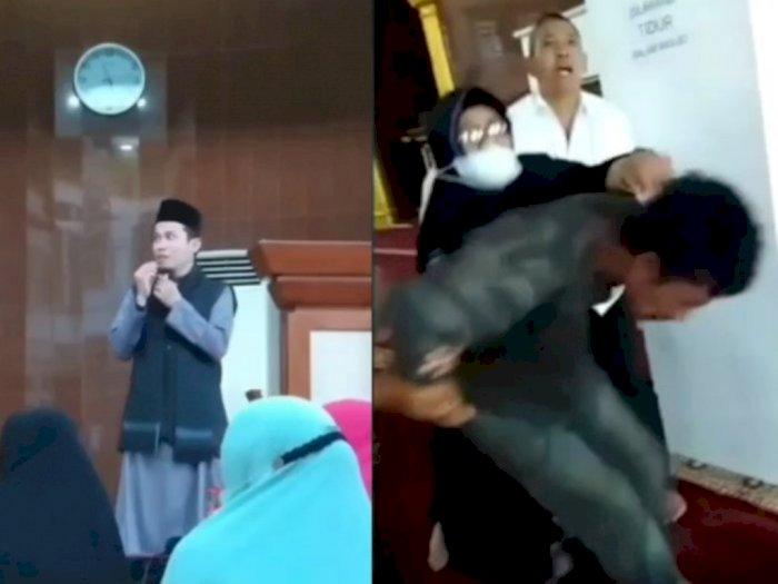 Ustaz Diserang OTK di Batam Saat Ceramah, Pelaku Langsung Diamankan!