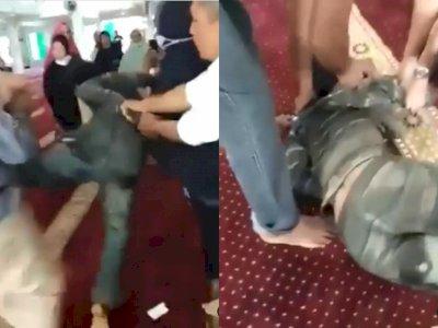 Terungkap! Pria yang Serang Ustaz saat Isi Ceramah di Masjid Batam Ternyata ODGJ