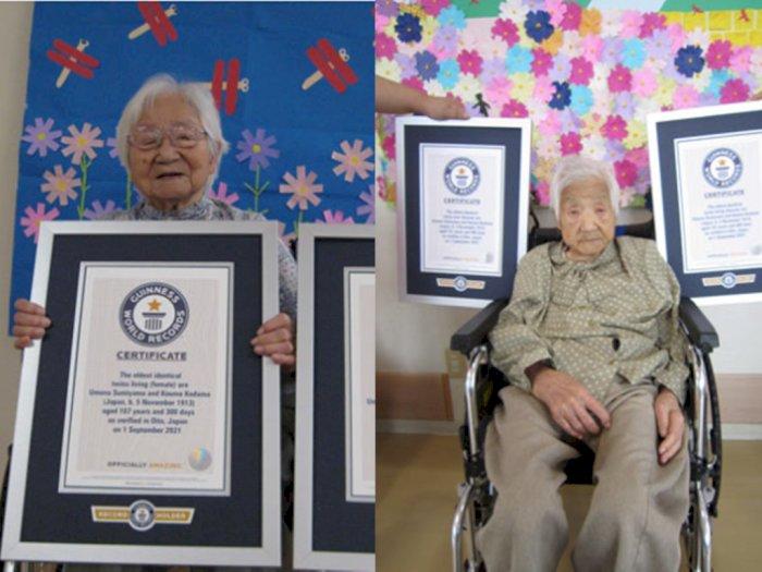 Kakak Beradik Berusia 107 Pecahkan Rekor Dunia Sebagai Kembar Identik Tertua