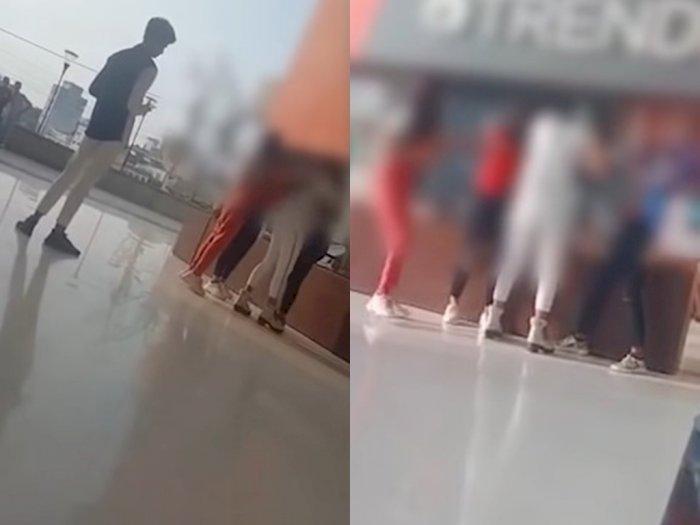 Video Perkelahian Dua Gadis di Pusat Perbelanjaan, Alasannya karena Berebut Pacar