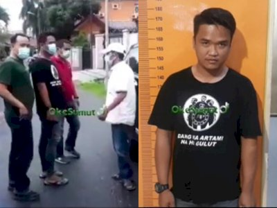 Viral Pria Tantang Polisi dan Ancam Pedagang Buah di Medan, Ciut saat Ditangkap