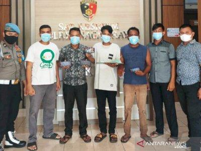 Berantas Judi Online, Polres Nagan Raya Aceh Tangkap Lima Warga Pelaku