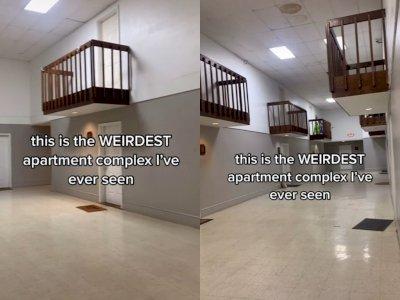 Viral Video Aneh, Balkon Apartemen Ini Bukan Diluar Gedung Malah di Dalam Gedung