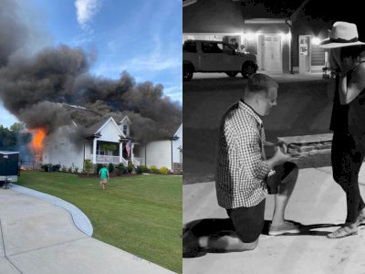 Pria Ini Melamar Kekasihnya saat Rumahnya Terbakar!