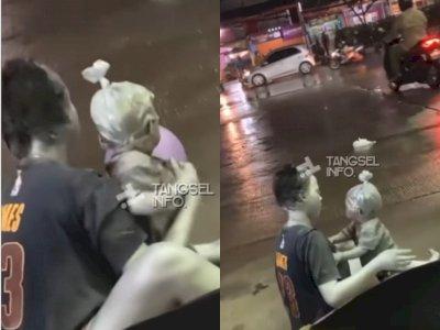 Viral, Bayi 10 Bulan Dijadikan Manusia Silver dan Diajak Mengemis di Pamulang Tangsel