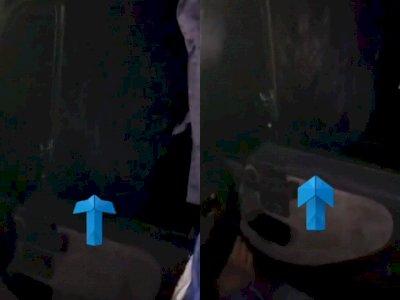 Sopir Truk Rekam Penampakan Misterius Kuntilanak di Balik Kaca Jendela, Bikin Merinding