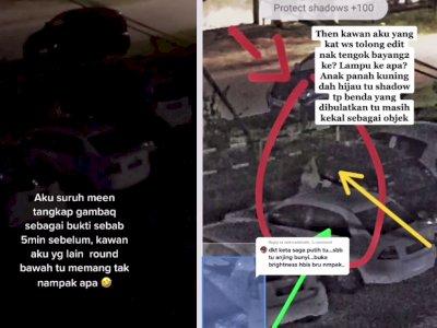 Horor! Ada Penampakan Diduga Pocong di Halaman Parkir Apartemen