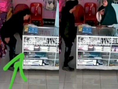 Gagal Mencuri Ponsel Penjaga Toko di Medan, Pria Ini Malah Ngeles Pura-pura Mau Tukar Uang